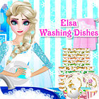 Elsa Washing Dishes 游戏