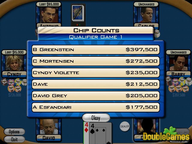 Free Download Poker Superstars II Screenshot 2