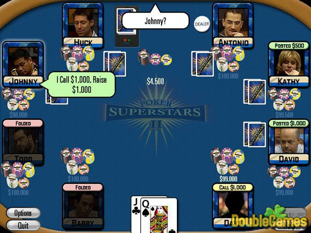 Free Download Poker Superstars II Screenshot 3